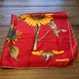 vintage Tiffany & Co Sunflower scarf